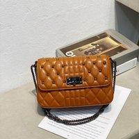 Handbag Fashion bag lock small square 2021 trend versatile chain Single Shoulder Messenger leather women's 9505