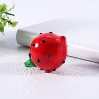 Glas Carb Cap Bubble Strawberry Creative Cartoon personalisierte Druck mit für flachen Top Quarz Banger Nägel Wasser Bongs Rohre Rauchen Zubehör
