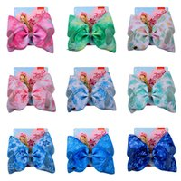 Baby Hair Accessories Pins Bb Clip Barrettes Clips For Girls Childrens jojo siwa Bows 8Inch Bowknot Ribbon B5322