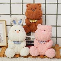 23CM Lovely Dream Series Sleeping Teddy Bear Rabbit Plush Toys Baby Soft Stuffed Animal Rabbits Pillow Birthday Gift OWA6199