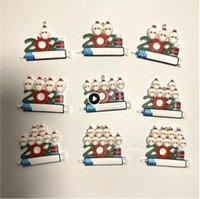 DHL 2021 Decoración navideña adornos de cuarentena Familia de 1-9 cabezas DIY Árbol Accesorios colgantes con cuerda CM12