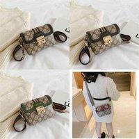 편지 인쇄 아기 Gilr 단일 어깨 가방 잠금 장식 키즈 소녀의 메신저 팩 어린이 여름 작은 사각형 가방 미니 지갑 지갑 핸드백 G61UJLM