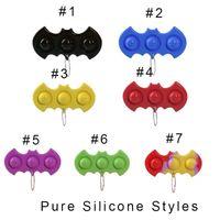 Push Bubble Brelok Zabawki Stresowy Reliever Fidget Simple Dimple Key Holder Pierścień Sensory Squeeze Novel Novel Bubble Game Wisiorki Board Decompression Toy
