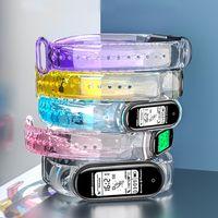 حزام الرياضة ل Xiaomi Band 6 5 4 سيليكون استبدال سوار شفاف من الأزمنة معصمه الأشرطة شفافة مي الرياضة العصابات 3 أساور rainbow