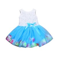 Girl's Dresses Dress For Girls 2 Years 3 Brand Bowknot Tutu Petals Tulle Baby Flower Gown Sleeveless O-neck Outfits
