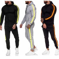 Men's Tracksuits Men Sets Sweatpants And Hoodie Set Tracksuit Sweatsuit Polyester Clothing Workout Joggers Wear