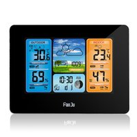 Desk & Table Clocks Fanju Digital Alarm Clock Hygrometer Weather Station Forecast Temperature Wall With Wireless Sensor