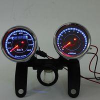 유니버설 LED 오토바이 타코미터 + 주행계 속도계 계기