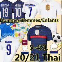 2021 Benzema Mbappe Jerseys Euro França Cup Griezmann Pogba Maillot Foot Fekir Pavard 21/22 Treinamento Hommes Enfants Femme Homens Kit Kit Futebol Camisas 4xl