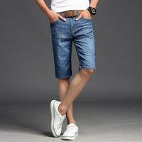 Jeans for Short Summer Youth Thin Elastic Men Denim Shorts Five Pants