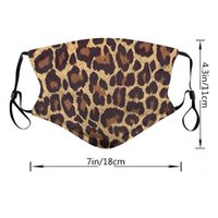 Fashion Leopard Trend Telcopic Ear Belt Cotton Riding Party Mask