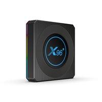 Latest X96 X4 Android11.0 TV BOX Amlogic S905X4 Quad-core 4GB 32GB 4GB 64GB 2.4G 5GWIFI&Bluetooth Smart Media Player