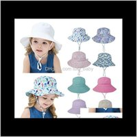 Aessories & Tools Hair Productsummer For Girls Boys Kids Bucket Spring Autumn Travel Beach Hat Baby Cap Sun Hats With Windproof Rope 16 Colo