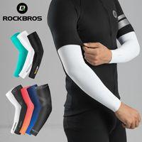 Rockbros Eis Stoff Atmungsaktive UV-Schutz läuft Armhülsen Fitness Basketball-Ellenbogen-Pad Sport Radfahren Outdoor Armwärmer