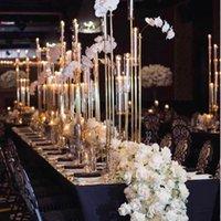 Party Decoration 10 stks) Bruiloft Candelabra Tafel Centerpiece Tall Metal Candlestick Yudao1127