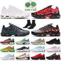 nike air max plus tn nike tn max air plus tn Calidad de primera calidad zapatillas para correr Women Black Silver University Red Green White TN Sneakers Trainers