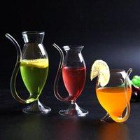 النبيذ الشفاف ويسكي الزجاج مقاومة للحرارة مص عصير الحليب الشرب أنبوب القش كأس القش السنجاب المنزل المطبخ بار شرب نظارات