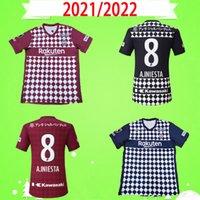 21 22 J1 League Vissel Soccer Jersey Giappone 2021 2022 Casa Away Camicie da calcio Uniforme Gotoku A.Iniesta David Villa Podolski Samper Iniesta