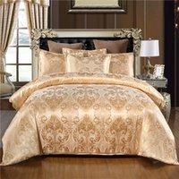 Warmsliving роскошные жаккардовые постельные принадлежности Одноместный Queen King Size Кровать Льняное одеяло Крышка 100% Полиэстер Удобный Пододеяльник Набор 210319