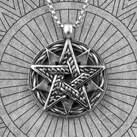 Pingente colares hexagram estrela judaísmo aço inoxidável homens pingentes cadeia punk para namorado macho jóias criatividade presente atacado