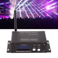 Effekter DJ 2.4G Wireless DMX 512 Controller Sändarmottagare LCD-skärmens strömjusterbar belysning