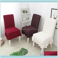 Chair Sashes Textiles Home & Gardenchair Ers Nordic Style Wedding El Seat Er Stretch Dining Room With Pleated Skirt Elasticity Slip For Banq