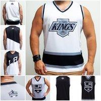 Youth Los Angeles Kings ретро альтернативный хоккейный танк черно-синий белый настроить любое число и имя личности жилет Джесси