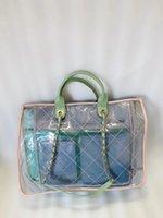 Bolsa de compras limpa clássica com corrente de praia de praia Caso de bolsa cosmética
