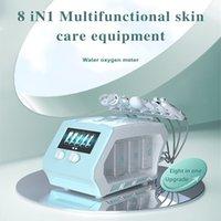 Portable 8 In 1 Plasma Ultrasonic Microcrystalline Hydra Dermabrasion machine Face Skin Care Deep Cleaning Oxy-spray Jet Peel Water Oxygen Facial Mschine