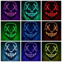 Хэллоуин маска светодиодный свет Смешные маски Очистные выборы Год большой фестиваль косплей костюм поставляет партии маска Rra4337