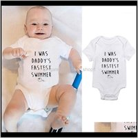 Sets Baby, Kids & Maternity Summer Children Letter Style Clothing Infant Baby Cotton Short Sleeves Bodysuit Jumpsuit Romper Born Clothes1 Dro