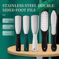 2021 En acier inoxydable Double Feuille de pied de la face morte Peau Dead Râte Callus Remover Pieds Soins Pédicure Outils de meulage Vert / Noir