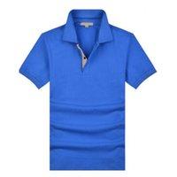 영국 남성 스포츠 폴로 셔츠 고품질 코튼 반팔 여름 영국 런던 티셔츠 잉글랜드 유니폼 클래식 레이싱 폴로스 블랙 그레이