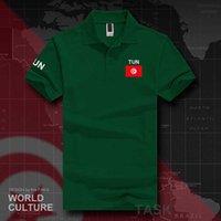 تونس قمصان بولو تونسية الرجال قصيرة الأكمام العلامات التجارية البيضاء المطبوعة لفريق القطن البلد العلم تون العربية التونسي H0913