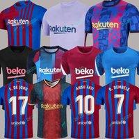 여자 남자 키즈 바르셀로나 세 번째 축구 유니폼 Camisetas 드 축구 훈련 Demir F. De Jong 훈련 정장 Barca FC 20 21 22 Ansu Fati 2021 2022 멤피스 페드리 Kun Aguero Dest