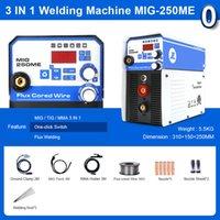 لحام الرقمية المنزلية مرحلة واحدة mig-250e mini mig لحام آلة دون تدفق الغاز الأسلاك الأساسية العاكس