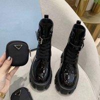 satış! Kadın Kış Martin Ayak Bileği Çizmeler Fırçalanmış Rois Gerçek Deri ve Naylon Savaş Boot Çıkarılabilir KeyCeçe Kalın Alt Yuvarlak Toes Bayanlar Motorcy