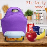 White Sublimation Lunch Bag Neoprene Multicolor Waterproof Breakfast Box Portable Thermal Insulated Picnic Hand Pack