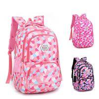 Sacs scolaires Ziranyu Kids Sac à dos sac à dos pour adolescentes Fermeture à glissière Big Capacité Fournitures imperméables