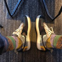 Fashion brand socks AF1 Fashion barb Travis Scott joint name AF1 stitching TS towel bottom stockings fashion socks