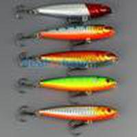 "Lot 20pcs Tackle Fishing Topwater Floating Pencil Lure Hooks Crank baits 9g 80mm 3.14"" Free Ship"