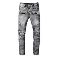 20SS Mens Designer Jeans Distressed Ripped Biker Slim Fit Motorcycle Denim For Men s Top Quality Fashion jean Mans Pants pour hommes #1094