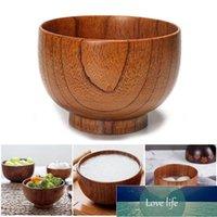 Solid Wood Round Tigela de Madeira Sobremesa Salada Sopa Sopa Brown Cozinha