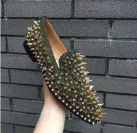 Moda Hombres Dandelion Mezcla Tachuelas Espigas Picos Mocasines Red Bott Sneakers Oxfords Vestido de fiesta Boda Gentleman Sheeing Shoes Shoes B23shoes