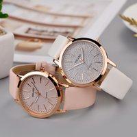 Designer horloge merk horloges luxe horloge met frosted wijzerplaat dames analoge pols lederen band jurk accessoires reloj para damaa