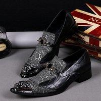 Robe chaussures hommes mocassins or véritable brevet cuir promo italien pour mariage formel mariage