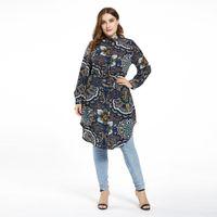 Plus Taille Femmes Dubaï Abaya Turquie Top Tops Islamic Vêtements Musulman Blouse Musulman Ropa Mujer Musulmana Arabe Maroc Top
