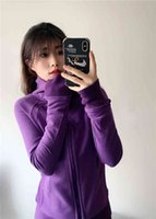 Sweater Lulu Scuba Hoodie Running Jackets Zipper Yoga Coat Sportwear Thumb Hole Clothing