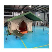 Tents And Shelters Outdoor Custom Size Color Cotton Canvas Campsite Vacation Glamping 16ft Length 13 Width Tent For Party Event Camping