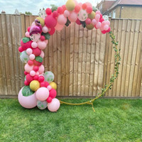 Party Decoration Gold Wedding Arch Circle Round Backdrop Stand Birthday Metal Outdoor Balloon Flower Stage Background